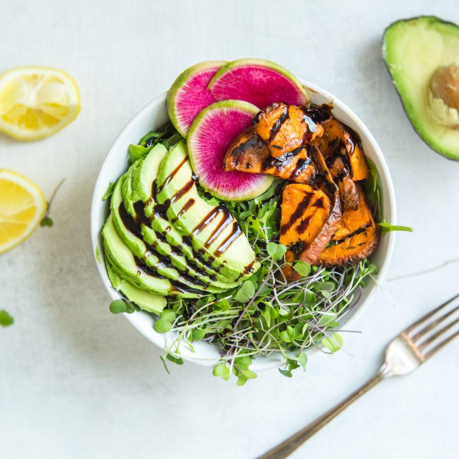 Eating healthy, essential vitamins