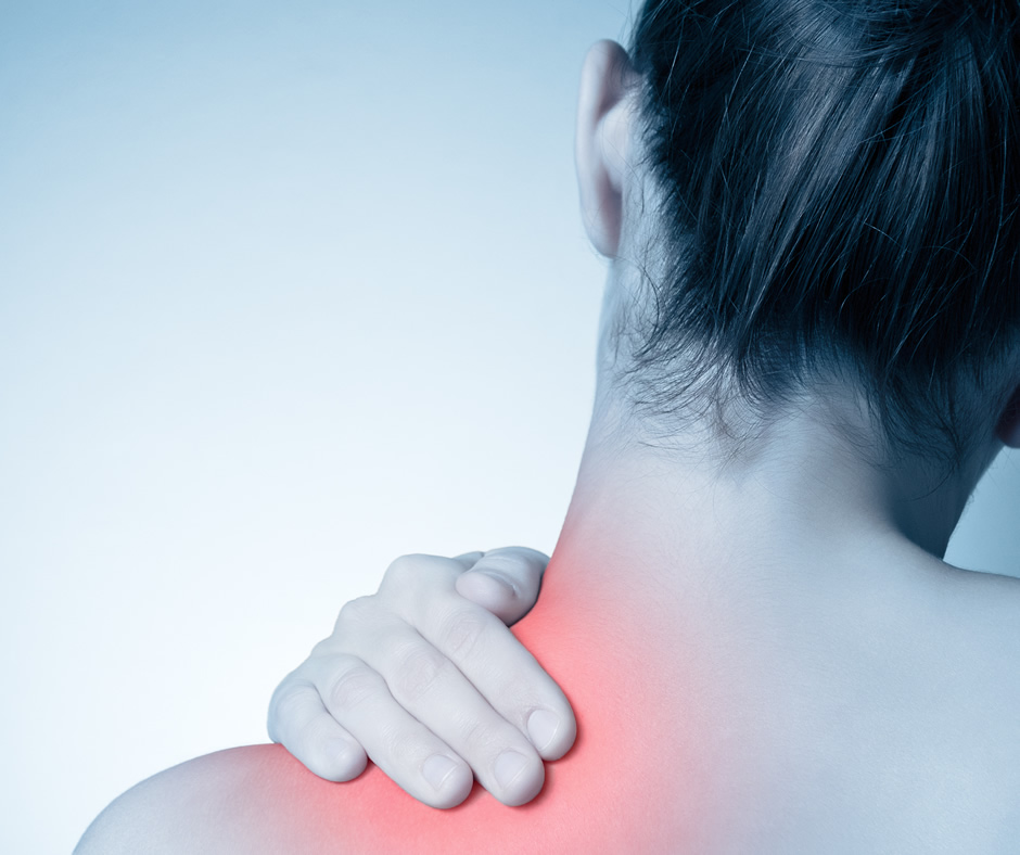 serious neck pain imagry